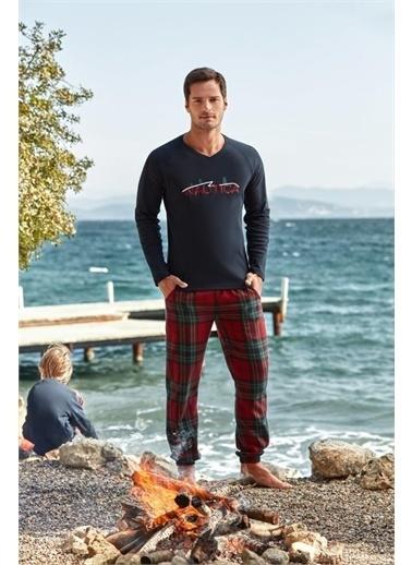 Nautica Ntm011 Pijama Takım Kırmızı